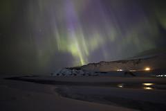 Iceland (richard.mcmanus.) Tags: iceland northernlights vik arctic night auroraborealis aurora mcmanus landscape mountains snow