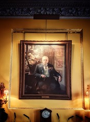 *** (Мaistora) Tags: portrait oil canvas frame guilted man figure historic admired hated controversial respected history mark war victory politician primeminister leader personality churchill winstonchurchill sirwinstonchurchill knight knighted lord general commanderinchief cigar medals posture emblematic iconic room club gentlemen conservative tory party political westminster westend stjamess stjamessstreet dining function event gentlemensclub tradition elite symbolic mobile phone samsung galaxy s7 samsunggalaxys7 edit process postprocess android app snapseed