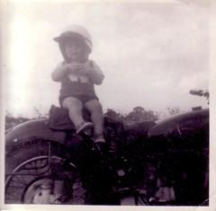 John Carson 1960 Me on My Dads Motor Bike (John Carson Essex UK) Tags: thegalaxy thegalaxystars supersix