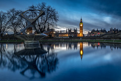 Westminster reflections (lloydich) Tags: westminster big ben reflection thames river moody