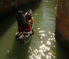 Mirage-Venice (Natali Antonovich) Tags: miragevenice venice italy lifestyle tradition water gondola gondolier boat hat reflection parallels tourists romanticism romantic mirage mistery