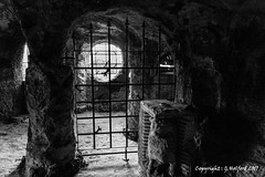 The Dungeon (Holfo) Tags: hawkstonepark caves countryside follies forest shropshire woods dungeon bars medieval fanatsy dark nikon d5300 nikcollecionsilverefex
