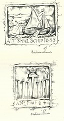 Anton Pieck- Bemin dan Amsterdam, 1948 ill  Bickerseiland gevelstenen (janwillemsen) Tags: antonpieck amsterdam bookillustration 19451948