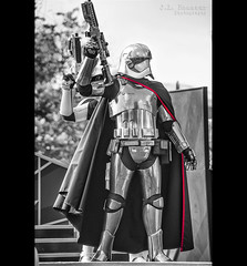 Captain Phasma in B&W - Disney's Hollywood Studios (J.L. Ramsaur Photography) Tags: jlrphotography nikond7200 nikon d7200 photography photo lakebuenavistafl centralflorida orangecounty florida 2016 engineerswithcameras hollywoodstudios disney'shollywoodstudios photographyforgod thesouth southernphotography screamofthephotographer ibeauty jlramsaurphotography photograph pic waltdisneyworld disney disneyworld marchofthefirstorder captainphasma starwars happiestplaceonearth wheredreamscometrue magical tennesseephotographer imagineering disneycharacter waltdisneyworldresort disneyimagineering portrait portraiture portraitphotography disneyportrait bw blackwhite blackandwhite nik niksilverefexpro2 silverefex nikcollection blackwhitewithcolor bwwithcolor blackandwhitewithcolor theforceawakens starwarstheforceawakens phasma episode7 blaster thedarkside firstorder