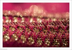 Cloth 86/365 (John Penberthy ARPS) Tags: 105mm 27mar17 365the2017edition 3652017 d750 day86365 johnpenberthy nikon bokeh closeup cloth gold macro macromondays pink scarf sparkle
