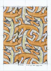 15_20170318 (regolo54) Tags: mc escher nr 15 tessellation tiling wallpaper reptiles symmetry mathart regolo54 mauritiuscorneliusescher structure