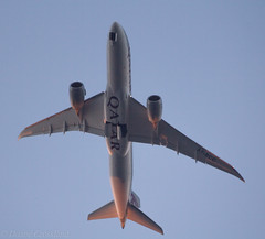 A7-BCC B787-8 09-04-2017 (deputy1984) Tags: qatarairways boeing b7878 b787 a7bcc sunrise sunshine morning blueskies aircraft airplane jetaircraft hyde cheshire manchesterairport man egcc canon60d tamron70300mm landinggear