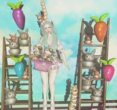 - Look 776 - Bunny Angel <3 (aisha.cahir ✿ {Blogger}) Tags: secondlife sl hair mello thegachaguardians gacha kawaii cute candykitten ck outfit bunny socksheels dress princess páscoa earsbunny yuki eyesfree theprojectse7en giftgroup mimpi pose yokai funny rabbit glasses lessucreriesdefairy balloon basket easter