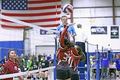IMG_3121 (SJH Foto) Tags: girls volleyball teen teenager team cecil crush u14s net battle spike block action shot jump midair