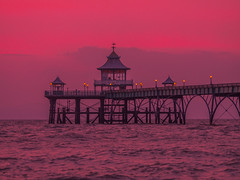 The Red Clevedon Pier (RS400) Tags: clevedon pier water red orange cool wow amazing zoom sea edit black olympus photography uk southwest somerset landscape photo