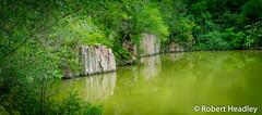 Green (Robert Headley) Tags: green pond south dakota rocks granite leaves duckweed water waterways waterscape