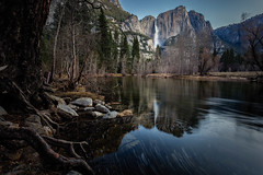 Yosemite Falls, Early Morning - Explored (PrevailingConditions) Tags: yosemite yosemitenationalpark yosemitefalls mercedriver morning longexposure landscape ca california rocks trees