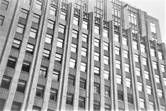 apt building (tylerfernandez) Tags: apartment apartments lomography kodak architecture buildings black white photography lincoln nebraska downtown highrise looking up symmetrical symmetry lines vertical midwest usa american building iso400 400 180 diy konstructor windows steel concrete stories floors construction urban street