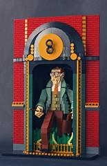 Arthur Weasley arrives to his workplace in Ministry of Magic via Floo Network (Pate-keetongu) Tags: lego moc harrypotter weasley arthurweasley character
