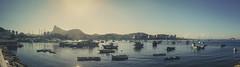 Rio de Janeiro (ArSalles) Tags: riodejaneiro brasil urca praiadaurca paodeaçucar view sea ocean sun sky mountain morrodaurca boats cristoredentor statue christ ponterioniteroi niteroi canon