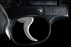 Trigger (lenswrangler) Tags: lenswrangler digikam flickrfriday synecdoche smithwesson sw revolver gun handgun 357 model19 strobist trigger springfield mass blackbackground weapon magnum