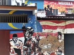 Merdeka! (SM Tham) Tags: asia southeastasia malaysia melaka malacca riverside mural streetart buildings walls merdeka proclamationofindependence history flag soldiers windows plants paint peeling roofs eaves outdoors