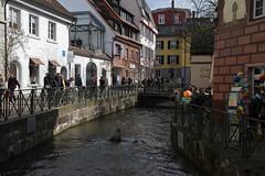 Altstadt, Freiburg (herbert@plagge) Tags: architektur freiburg gewerbekanal altstadt deutschland germany oldtown channel city urbancentre hccity