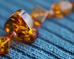 amber necklace  HMM (Sigita JP) Tags: amber necklace mondaymacros hmm color blue orange macro canon100mmmacro