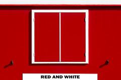 Red and white (on Explore) (Jan van der Wolf) Tags: map17040vvvv redandwhite red rood white shadow window raam closed keet lines lijnen schaftwagen schaftkeet site hut dissymmetry sitehut