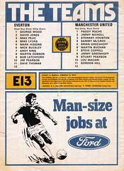 Everton vs Manchester United - 1977 - Back Cover Page (The Sky Strikers) Tags: everton manchester united football league divsion one goodison park programme 15p