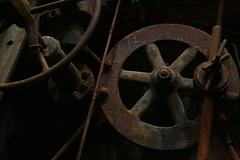 Inside the power house (Samantha Evans of Sam Evans Pix) Tags: rust corrosion metal wheel gear powerhouse slossfurnaces sloss iron pigiron birmingham al alabama birminghamal nationalhistoriclandmark steel blastfurnace magiccity