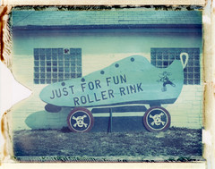 Just For Fun ([jonrev]) Tags: roller skate rink sign mchenry illinois polaroid iduv 250 land camera peel apart packfilm instant film