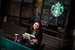 my life next door (Silver Machine) Tags: winchester hampshire streetphotography street streetportrait candid girl sitting smoking reading coffee coffeeshop costacoffee starbucks coffeecup fujifilm fujifilmxt10 fujinonxf35mmf2rwr