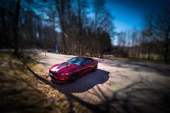 Mustang on the road - Parking from Castle Lichtenstein - Germany (R.Smrekar-CH) Tags: tiltshift mustang d750 000100 smrekar germany