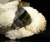 Elbaite (A Variety of Tourmaline) on Albite  NHMLA 24673 (Stan Celestian) Tags: elbaite tourmaline albite nhmla24673