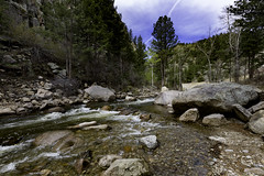 time on a treadmill (.sanden.) Tags: colorado co rooseveltnationalforest river creek water forest sky blue landscape canon6d 1635mm 16mm green rocks rocky sanden