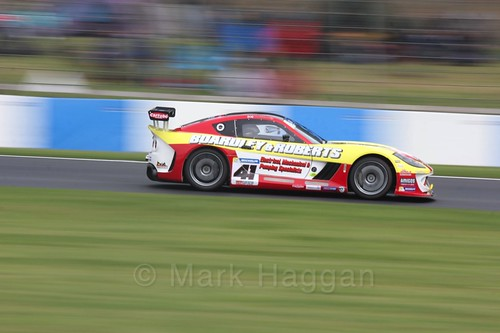 Carl Boardley in the Ginetta GT4 Cup at the British Touring Car Championship 2017 at Donington Park
