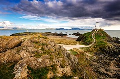 Anglesey's Wild West (HannahGE) Tags: beach nd weather clouds lighthouse island llanddwyn landscape seascape snowdonia anglesey menai sea water uk coast wales