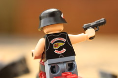 Territory (lego slayer) Tags: biker motorcycle lego legos brickarms citizen brick minifigco sunset