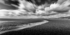 Morecambe Bay (imperfect visions) Tags: a long exposure shot morecombe bay lancashire i like lead water especially love way clouds have come out very dramatic black white gary williamson imperfect visions nikon tamron wide angle lens timelong photography blackandwhite drama d7000 beach sand sea stream movement move interesting depth field
