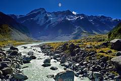 Glacier lake of Hooker river (T Ξ Ξ J Ξ) Tags: newzealand aoraki mountcook d750 nikkor teeje nikon2470mmf28 river coook glacier