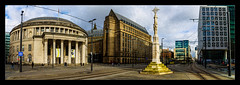 St Peter's Square, Manchester (Kev Walker ¦ 8 Million Views..Thank You) Tags: building bus buses canon1855mm citycentre england englishpub hdr lancashire manchester northwest panorama panoramic photoborder street track tramlines trams transport