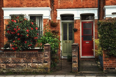 Doors (☺dannicamra☺) Tags: nikond5100 england fenster tür blumen window door flower street london richmond twickenham doors windows terraced houses home house housing uk