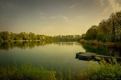 Silence (Monnemerbuh) Tags: erlache hessen deutschland germany see wasser stille silence sony alpha6000 alpha a6000 europe europa bootssteg steg boot bäume natur landschaft landscape