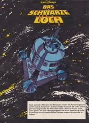 Das schwarze Loch  1 / splash panel (micky the pixel) Tags: comics comic heft film movie adaption sf scifi sciencefiction waltdisney ehapaverlag dasschwarzeloch theblackhole raumschiff spaceship usspalomino space weltall