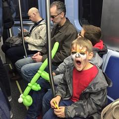 (Ryan Dickey) Tags: balloonanimal tired brothers chicago purpleline commuting kidsday eltrain cta michael luke