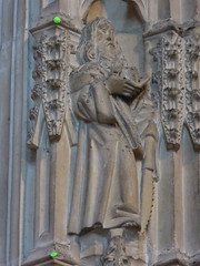 St Simon (Aidan McRae Thomson) Tags: worcester cathedral worcestershire medieval sculpture carving statue