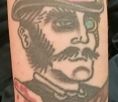 Jack the Ripper (Oh.Great!) Tags: 3652017 macromondays crime tattoo jack jacktheripper