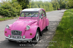 Rosie in the country-17 (magicalnights) Tags: pink wedding car derbyshire 2cv chic weddingcar shabbychicwedding sexyweddingcar 2cvweddingcar