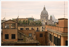 Roman view (papaija2008) Tags: city italy rome building church canon eos italian view cathedral roman steps spanish dome 1755mm 60d