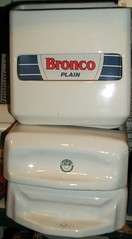 Bronco toilet paper dispenser  Eastbourne 19/05/13. (Ledlon89) Tags: