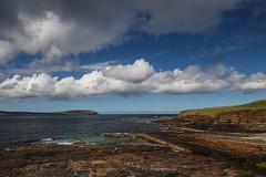 View From Mid Howe Broch (rvanr) Tags: sea cloud tower water rock coast scotland orkney view dwelling broch rousay
