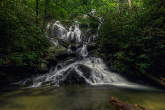 Lower Catawba  Falls, North Carolina (photographybyjameshoffman) Tags: green water waterfall cascade appalachia cataract northcarolinamountains northcarolinablueridgemountainssunset