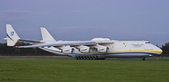 Antonov Airlines An-225 spooling up (birrlad) Tags: sunset up airplane evening airport taxi aircraft aviation airplanes cargo line shannon takeoff runway airliner freighter antonov an225