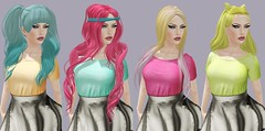 Skittles (Toya Shelman) Tags: new colors hair dress mesh secondlife boutique skater ikon taketomi magika villena ploom secondlifefashion truthhair glamaffair